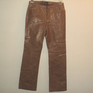NEW Gap Size 6 Genuine Leather Pants Caramel Brown